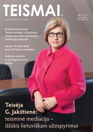 TEISMAI - Nr. 1 (21), Kovas 2016